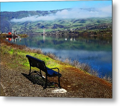 The River Bench Metal Print
