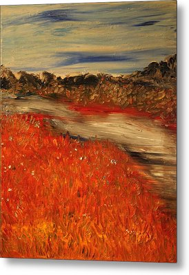 Metal Print featuring the painting The River by Evelina Popilian