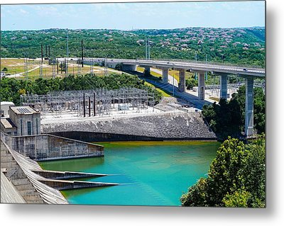 The River Flows Metal Print