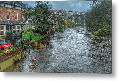 The River Nidd In Flood At Knaresborough Metal Print