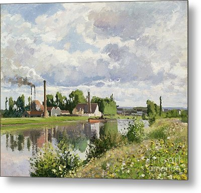 The River Oise Near Pontoise Metal Print by Camille Pissarro
