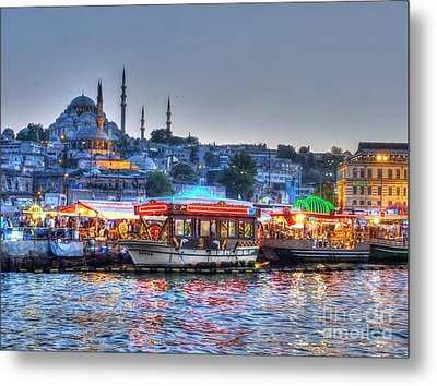 The Riverboats Of Istanbul Metal Print