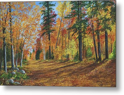 Metal Print featuring the painting The Road Less Traveled by Ken Ahlering