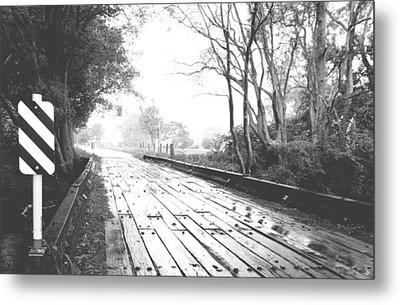 The Road Less Travelled - Country Bridge Metal Print by Virginia Halford