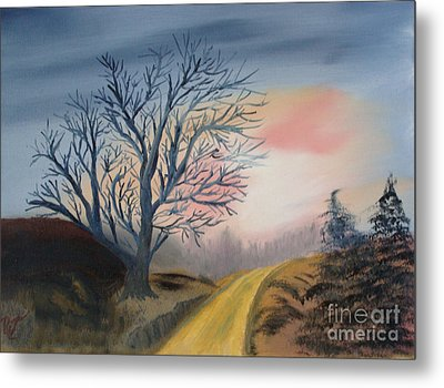 Metal Print featuring the painting The Road To... by Rod Jellison