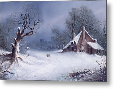 The Road To The Church Metal Print by GB MacDonald