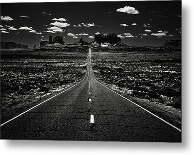 The Road To The West Metal Print by Eduard Moldoveanu