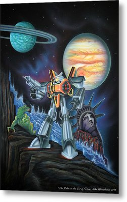 The Robot At The End Of Time 1985 Metal Print by Mike Winterbauer