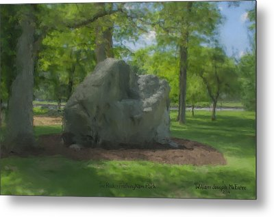 The Rock At Frothingham Park, Easton, Ma Metal Print