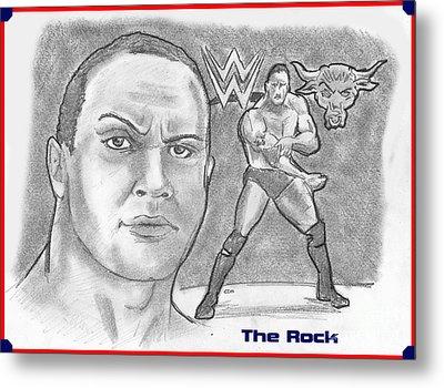 The Rock Metal Print by Chris  DelVecchio