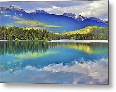 Metal Print featuring the photograph The Rockies Reflected In Lake Annette by Tara Turner