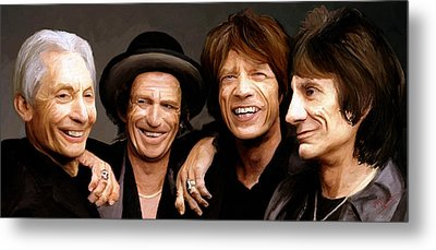 Metal Print featuring the painting The Rolling Stones by James Shepherd
