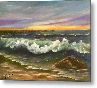 The Rolling Surf Metal Print