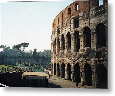 Metal Print featuring the photograph The Roman Colosseum by Marna Edwards Flavell
