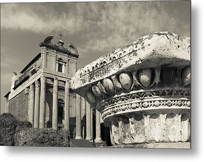 The Roman Forum Metal Print by Edward Fielding