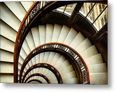 The Rookery Spiral Staircase Metal Print by Ely Arsha