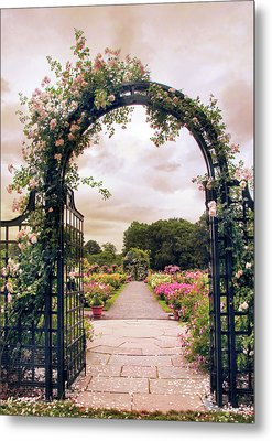 The Rose Allee Metal Print by Jessica Jenney