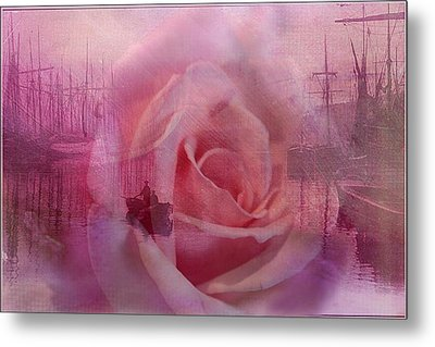 The Rose And The Sea Metal Print