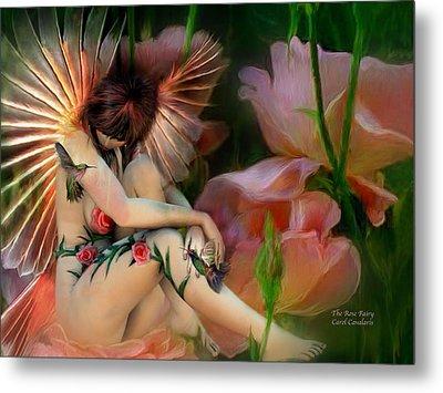 The Rose Fairy Metal Print by Carol Cavalaris