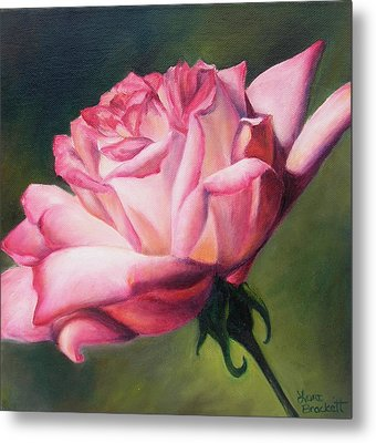 Metal Print featuring the painting The Rose by Lori Brackett