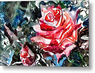 The Rose Metal Print by Mindy Newman
