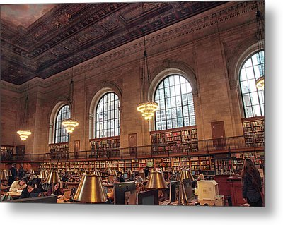The Rose Reading Room Metal Print