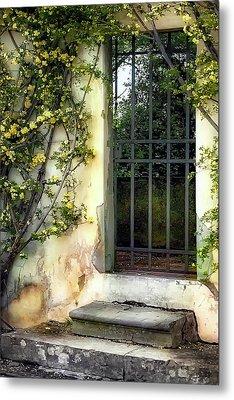 The Rose Vined Door Metal Print by Lynn Andrews
