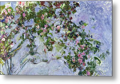 The Roses Metal Print by Claude Monet