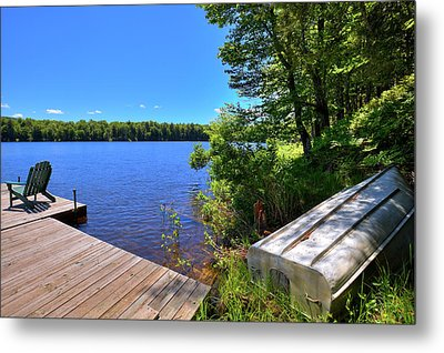 Metal Print featuring the photograph The Rowboat On West Lake by David Patterson