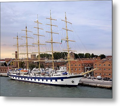 The Royal Clipper Docked In Venice Italy Metal Print by Richard Rosenshein