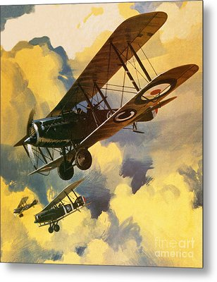 The Royal Flying Corps Metal Print by Wilf Hardy