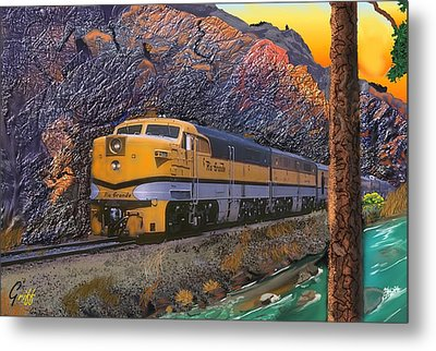 The Royal Gorge Metal Print by J Griff Griffin