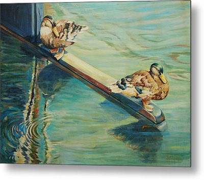 The Rudder Metal Print