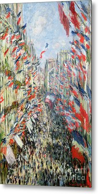 The Rue Montorgueil Metal Print by Claude Monet