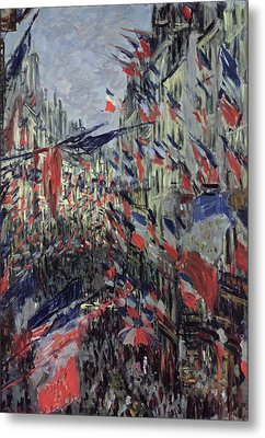 The Rue Saint Denis Metal Print by Claude Monet