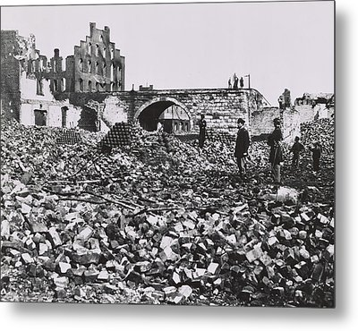 The Ruins Of Richmond, Virginia, 1865  Metal Print by Andrew Joseph Russell