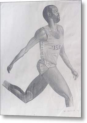 The Runner Metal Print by Wil Golden
