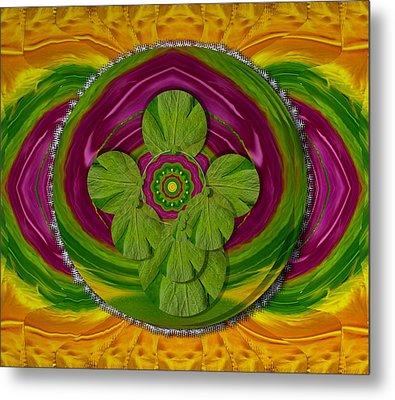 The Sacred Mandala Metal Print by Pepita Selles
