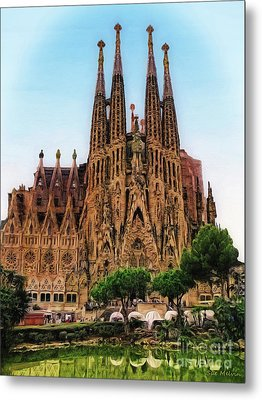 The Sagrada Familia Metal Print by Sue Melvin
