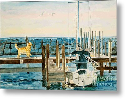 Metal Print featuring the painting The Sailmate by LeAnne Sowa