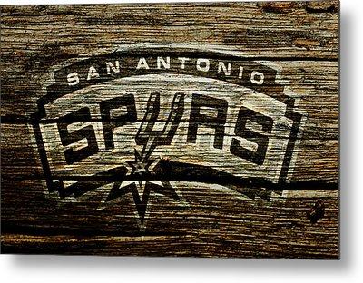 The San Antonio Spurs 2a Metal Print by Brian Reaves