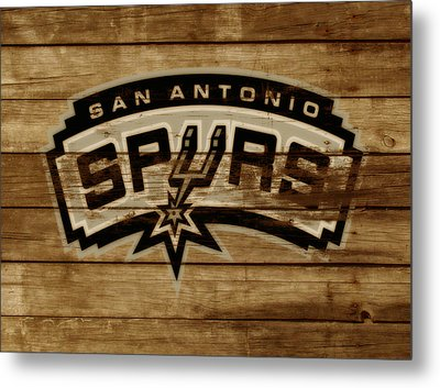 The San Antonio Spurs 3c Metal Print by Brian Reaves