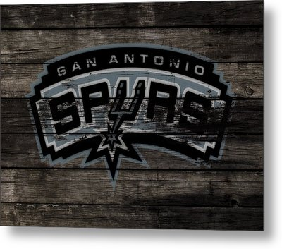 The San Antonio Spurs 3e Metal Print by Brian Reaves
