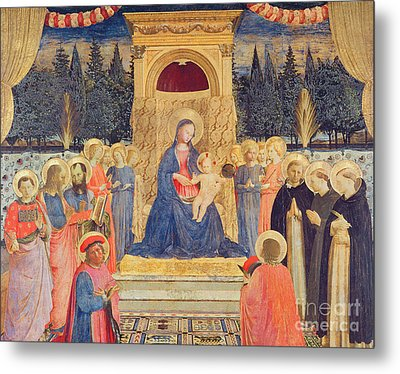 The San Marco Altarpiece Metal Print by Fra Angelico