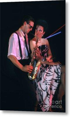 The Sax Man And The Girl Metal Print by Greg Kopriva