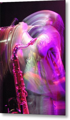 The Saxophone Player Metal Print by Gerry Walden