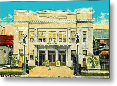 The Sayre Theatre And Opera House In Sayre Pa In 1925 Metal Print