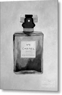 The Scent Black And White Metal Print