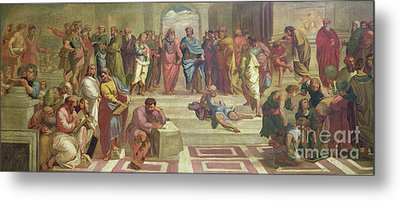 The School Of Athens, After Raphael  Metal Print by Joshua Reynolds