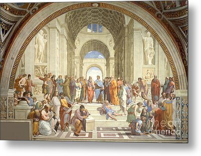 The School Of Athens, Raphael Metal Print by Science Source